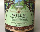 Willm Clos Gaensbrænnel Grand Cru Kirchberg de Barr Gewurztraminer 2014