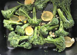 Broccolini með sítrónu og hvítlauk